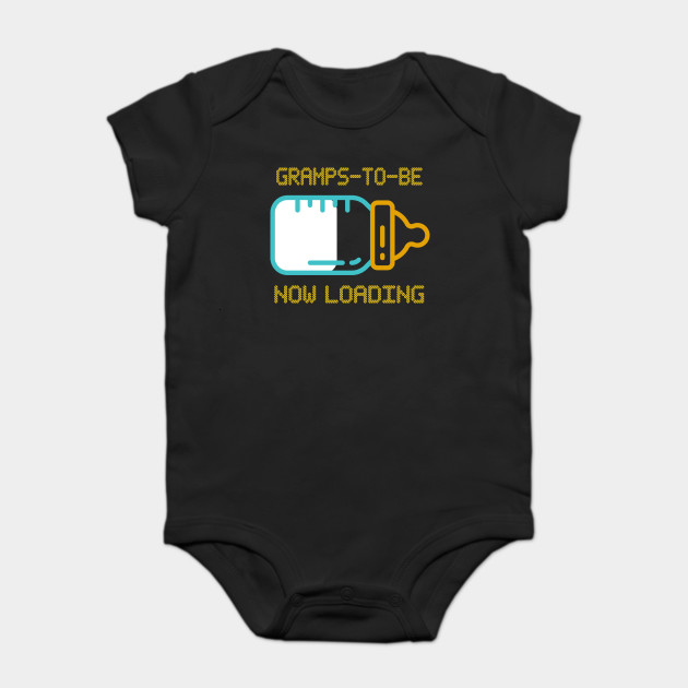 Mens Funny Dad To Be Perfect Gifts For Fathers Day T Shirt GRAMPS TO BE Onesie