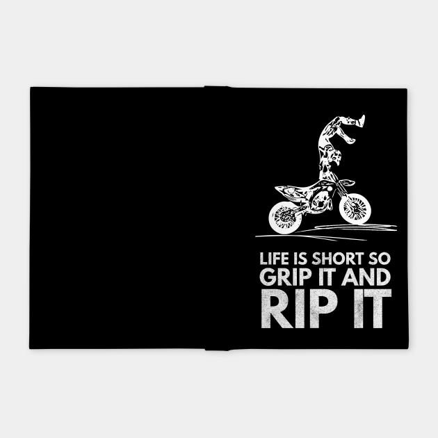 Dirt Bike Racer Typography Creative Art