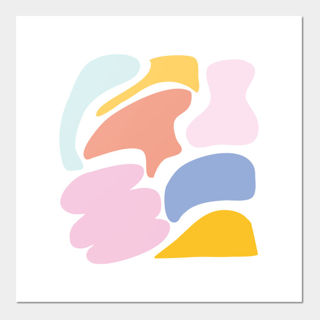 Abstract Shapes In Cute Pastel Colors Abstract Pastel Shapes Posters And Art Prints Teepublic Discover 100+ abstract shapes designs on dribbble. abstract shapes in cute pastel colors