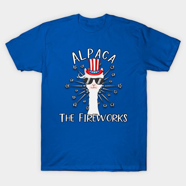 2d3f4591 Patriotic Llama Alpaca The Fireworks July 4th Funny American - Llama ...