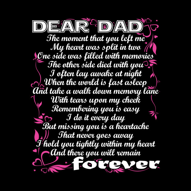 Dear Dad You Will Remain Forever Missing Dad In Heaven Poems
