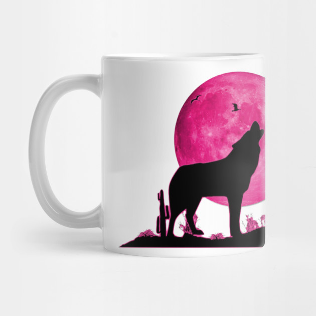Lone Wolf Survives The Mountain Silhouette Art T-Shirt Mug