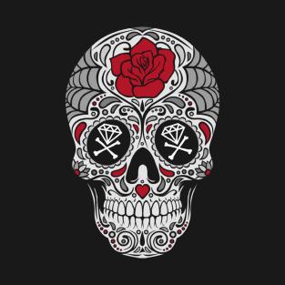 ROSE SKULL t-shirts
