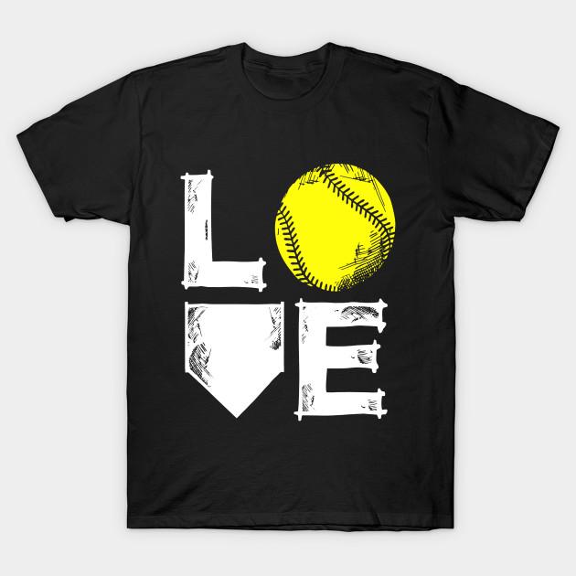 I Love Softball Shirt Gift Idea For Teen Girls A