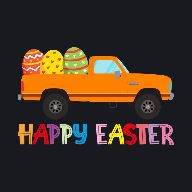 Happy Easter Truck Egg Hunt Gift