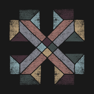 Western Tribal Abstract Geometry with Earth Tones t-shirts
