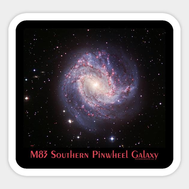 M83 The Southern Pinwheel Galaxy Astronomy Gift Sticker