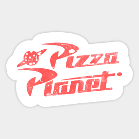 Pizza Planet Aufkleber Teepublic De