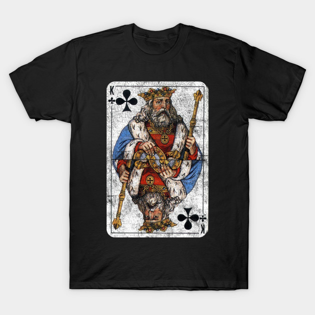Vintage King of Clubs Playing Card - King Of Clubs - T-Shirt  a1d9a3efb