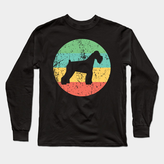 Dog Silhouette Icon Shirt Schnauzer Shirt Vintage Retro Schnauzer T-Shirt