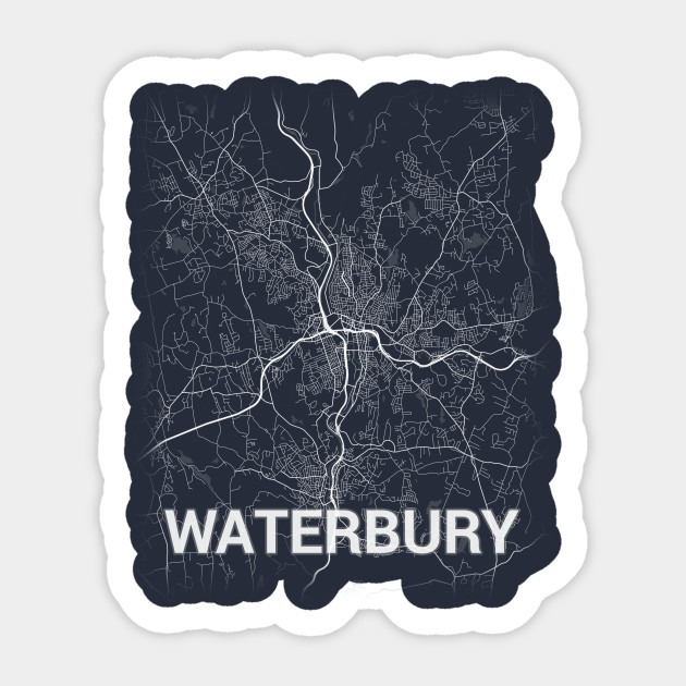 Waterbury US Connecticut City Map