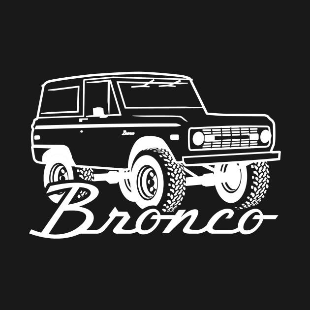 1966-1977 Ford Bronco White Print w/tires