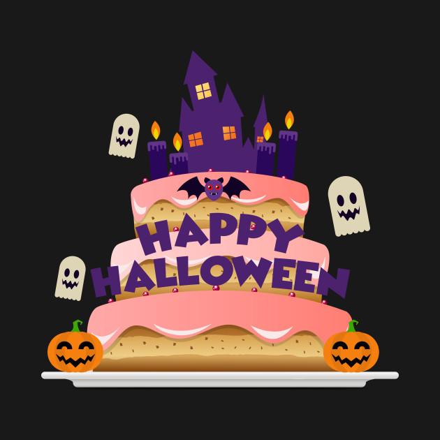 Happy Halloween Birthday Cake Happy Halloween Party T Shirt