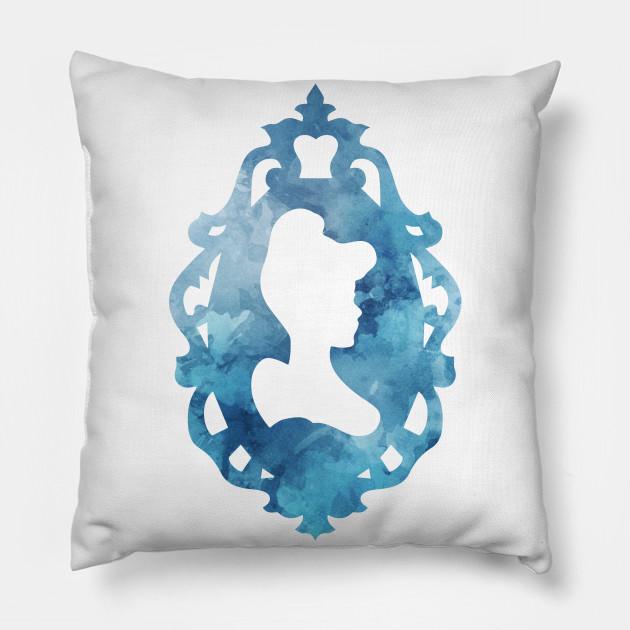 Cinderella Silhouette Frame - Cinderella - Pillow   TeePublic