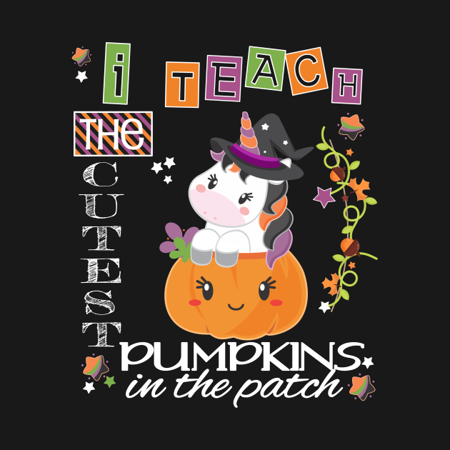 Halloween Unicorn Cutest Pumpkins Funny Teacher Party Gift