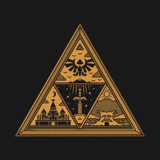GOLDEN TRIFORCE t-shirts