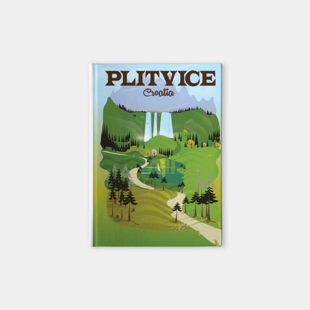 Plitvice Croatia Travel poster
