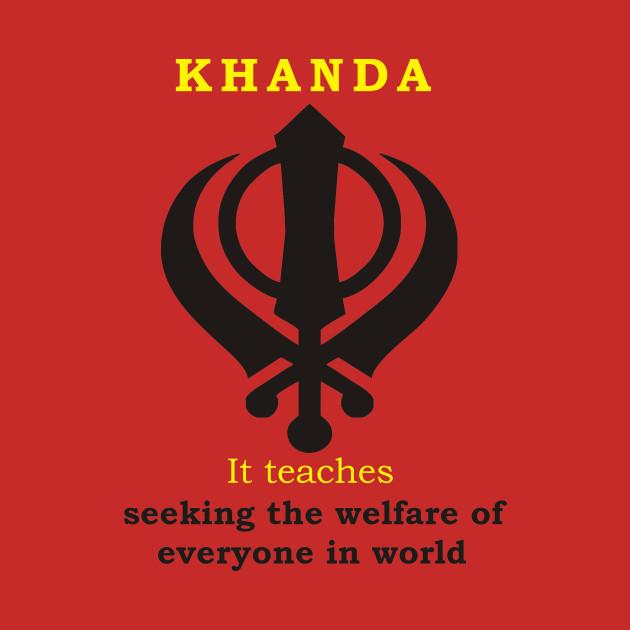 Khanda Sikh T Shirts Sikh Khanda T Shirt Teepublic