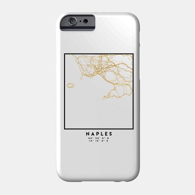 NAPLES ITALY CITY STREET MAP ART - Naples - Phone Case | TeePublic