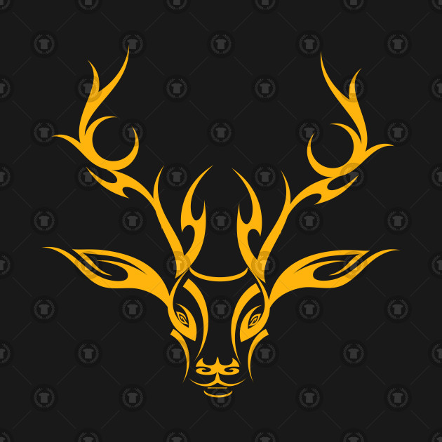 Tribal Stag in Yellow