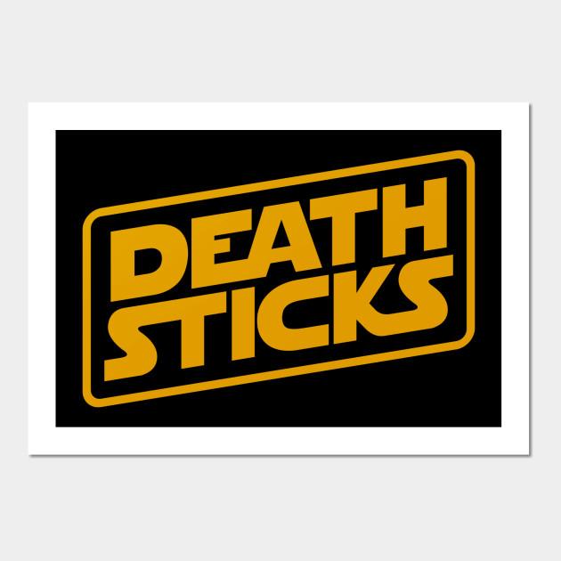 Death Sticks Logo - Star Wars - Wall Art | TeePublic