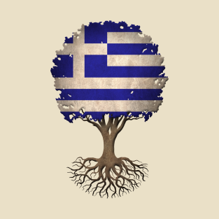 Tree of Life with Greek Flag t-shirts