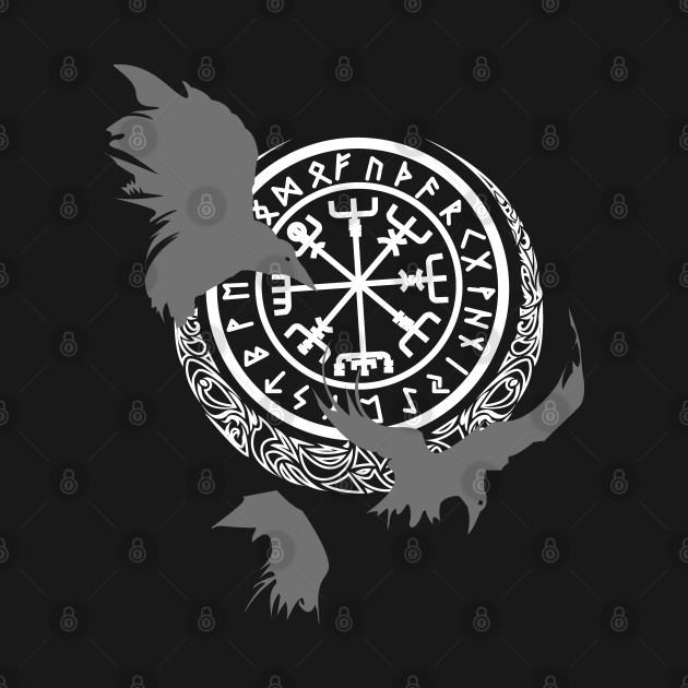 Viking Runes - Odins Ravens - Norse Mythology