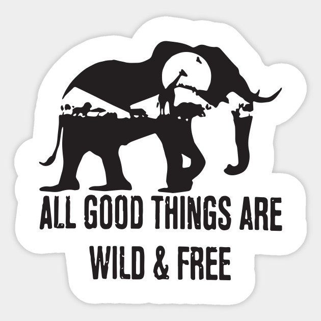 all good things are wild and free elephant