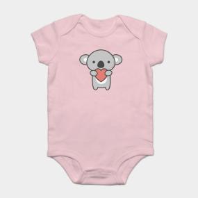 732cbabf07a Kawaii Cute Koala With Heart Onesie