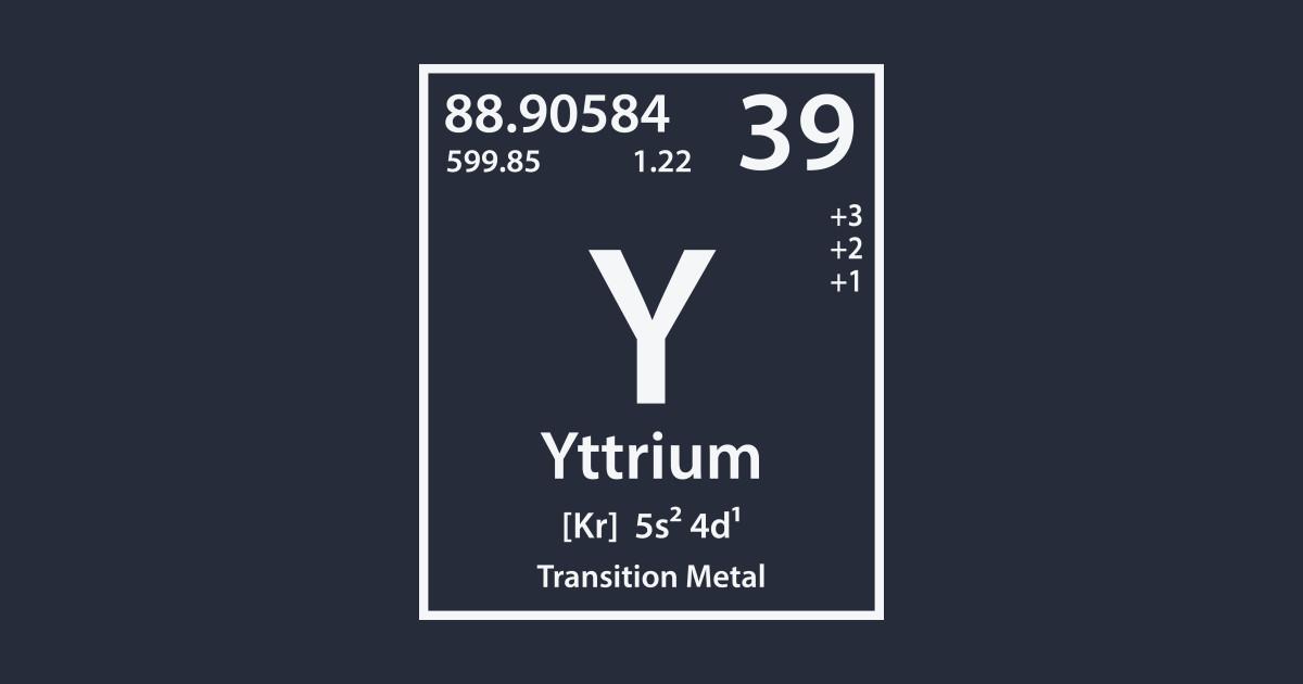 Yttrium Element Yttrium T Shirt Teepublic