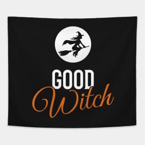 Good Witch Halloween Tapestries   TeePublic