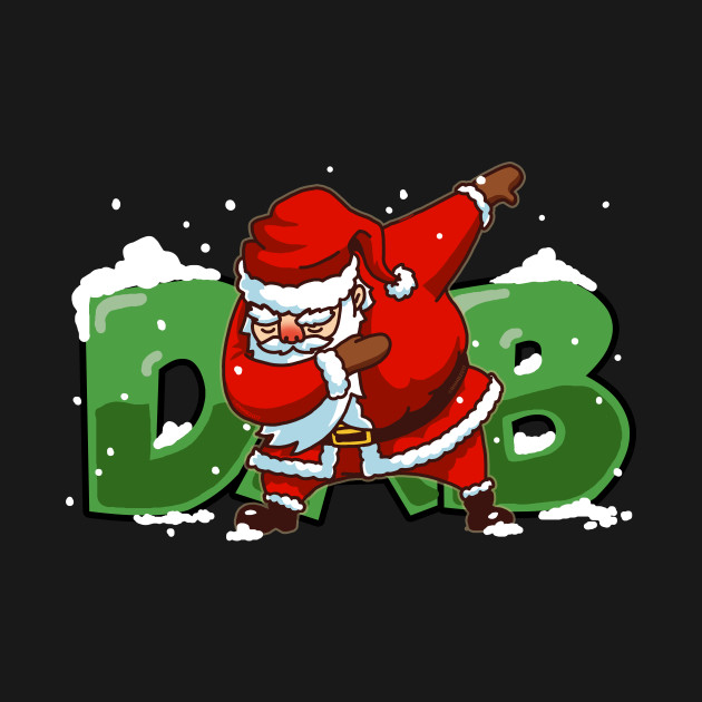 Dabbing Santa Christmas Tshirt Gift Dab Santa Claus T ...