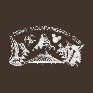 Disney Mountaineering Club Vintage (dark-colored shirts) t-shirts