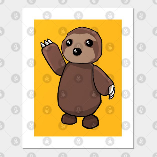 Roblox Poster Sloth Cartoon Roblox Posters And Art Prints Teepublic