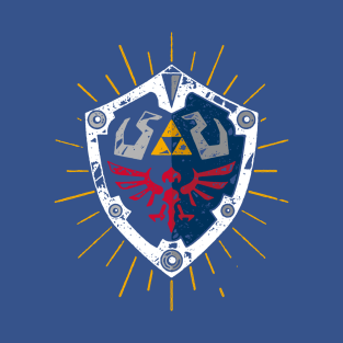 Vintage Hylian Shield t-shirts