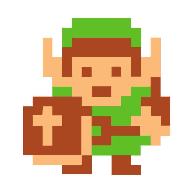 8 bit Link from the Legend of Zelda