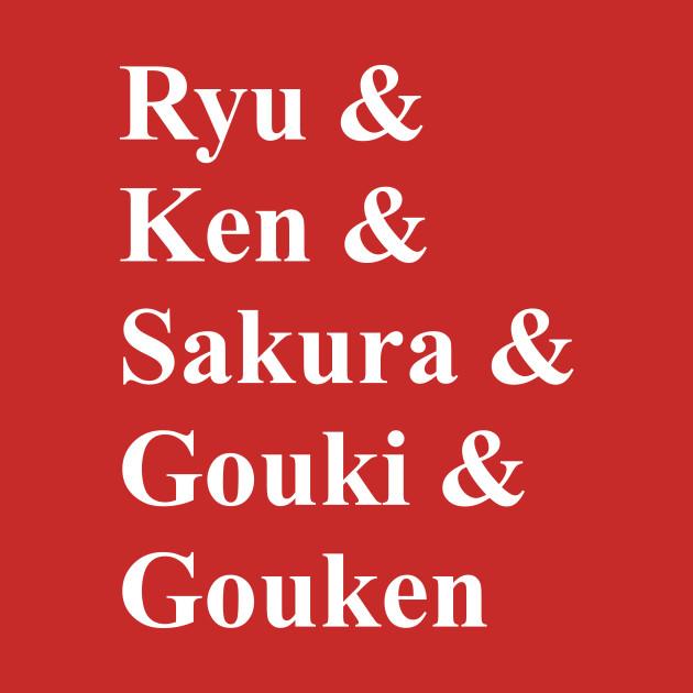 Ryu & Ken & … (white) T-Shirt