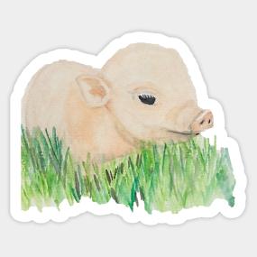 Cute Farm Animals Stickers | TeePublic