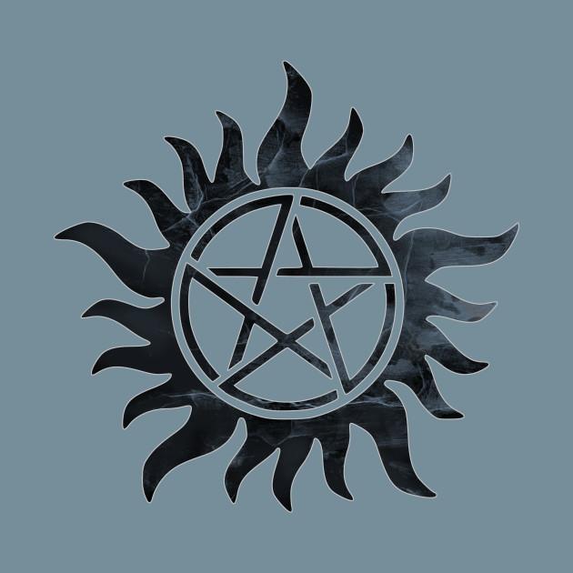 Anti Possession Sigil Black Supernatural T Shirt Teepublic
