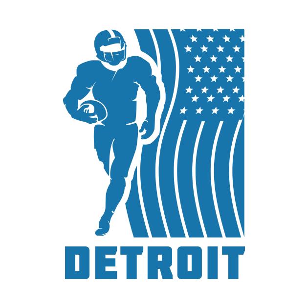 Detroit Football Team Color