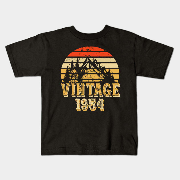 Born In 1954 64th Birthday Years Vintage Rentro Kids T Shirt