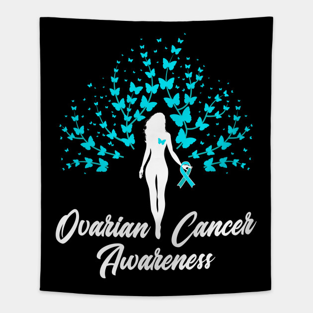 Ovarian Cancer Awareness Survivor Warrior Teal Ribbon Ovarian Cancer Tapestry Teepublic