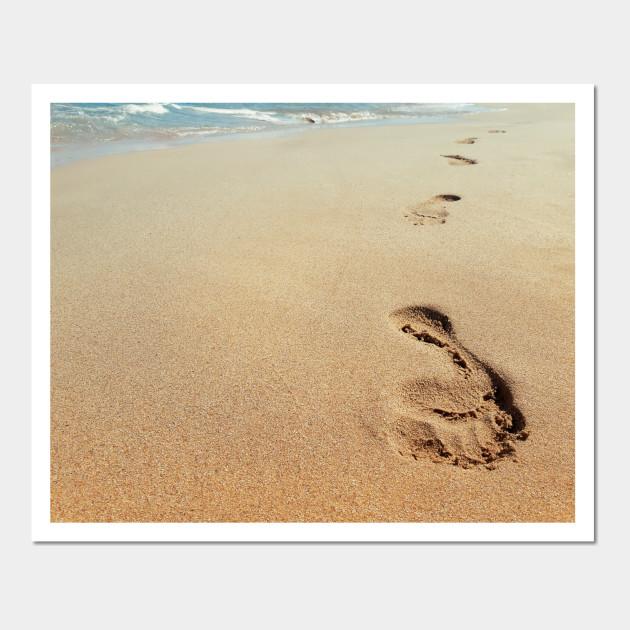 Exelent Footprints Wall Art Sketch - Wall Painting Ideas ...