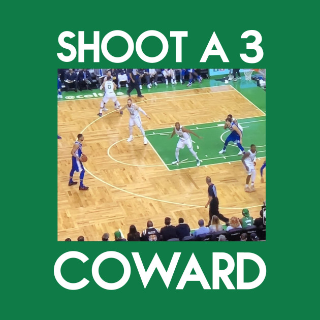 SHOOT A 3 COWARD (white font)