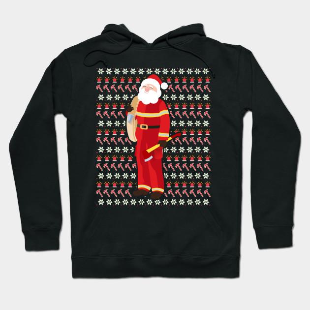 d2bc03eb51823 Cute Firefighter Ugly Christmas Xmas Fireman Santa Claus - Fire ...