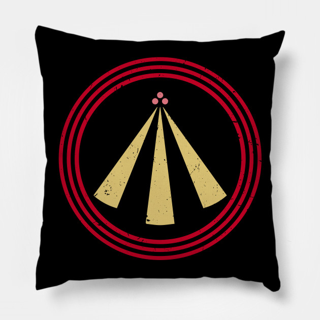 The Neo Druid Symbol Of Awen In Japanese Colors Awen Pillow