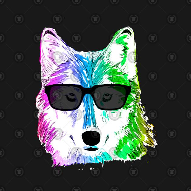 Rainbow Wolf - Cool - T-Shirt