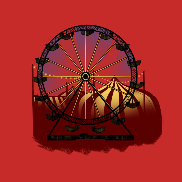 Old Carnival Ferris Wheel