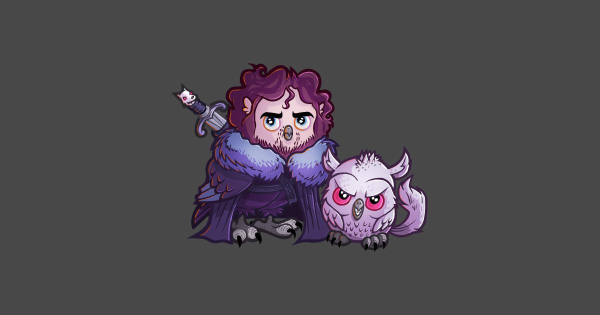 Jon sn owl owl sticker teepublic