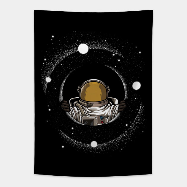 Astronaut Is Looking Through A Black Hole